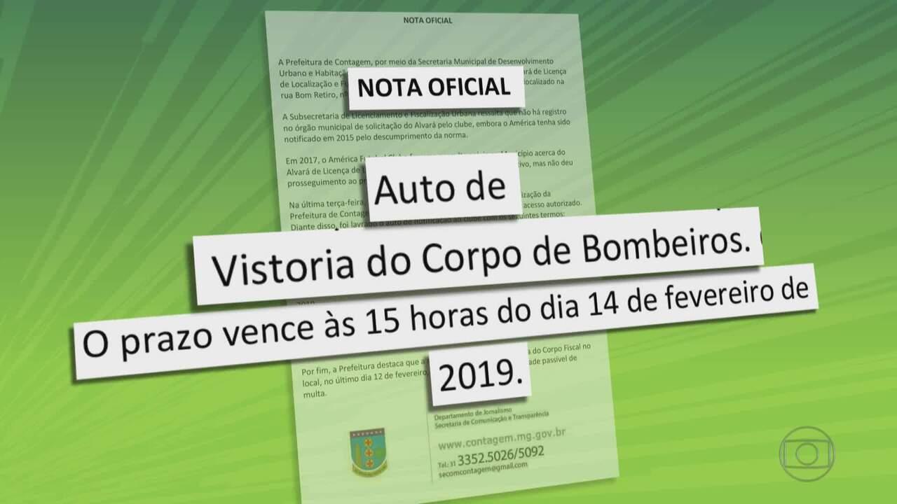 América-MG e Cruzeiro são notificados por falta de documentação em relação a base