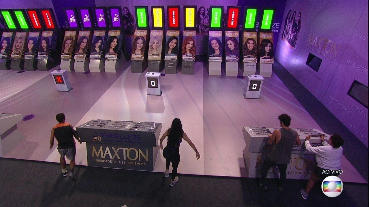 Prova do Líder Senha: Maycon e Tereza terminam terceira rodada com mais acertos