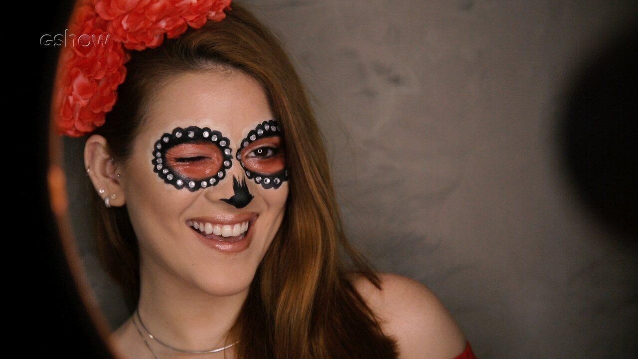 Make de Carnaval: Ana Clara ensina passo a passo de caveira e bate papo com o Gshow