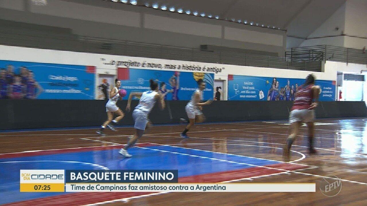 Time de basquete de Campinas faz amistoso contra equipe argentina