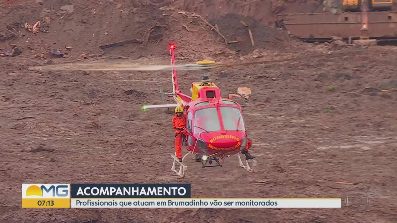 Bombeiros que atuam em Brumadinho vão ter saúde monitoradora por 20 anos