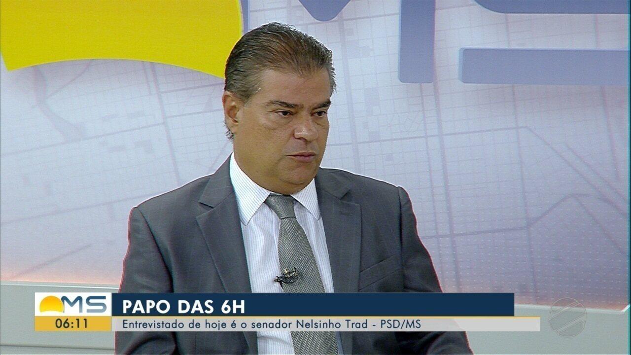 Papo das 6:00: Senador Nelsinho Trad dá entrevista ao Bom Dia MS