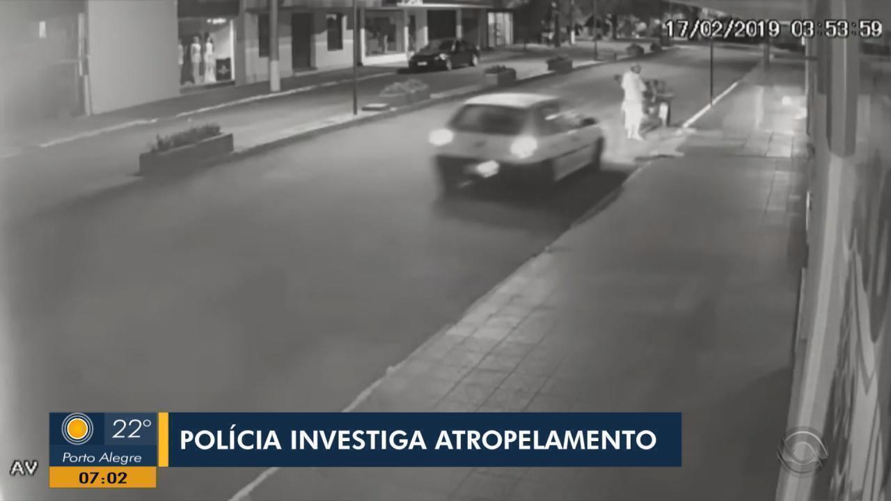 Polícia de Tenente Portela investiga atropelamento registrado no Centro da cidade