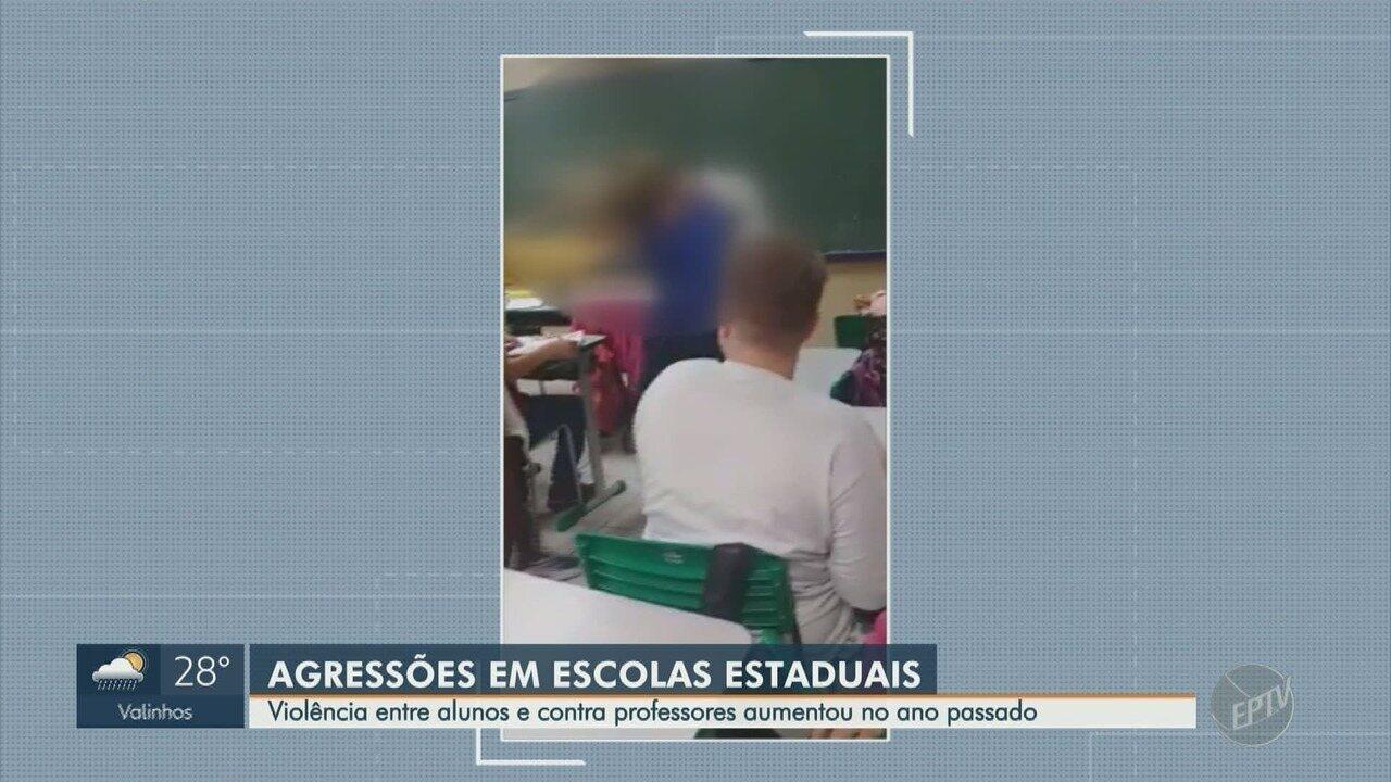 Violência entre alunos e contra professores aumentou no ano passado