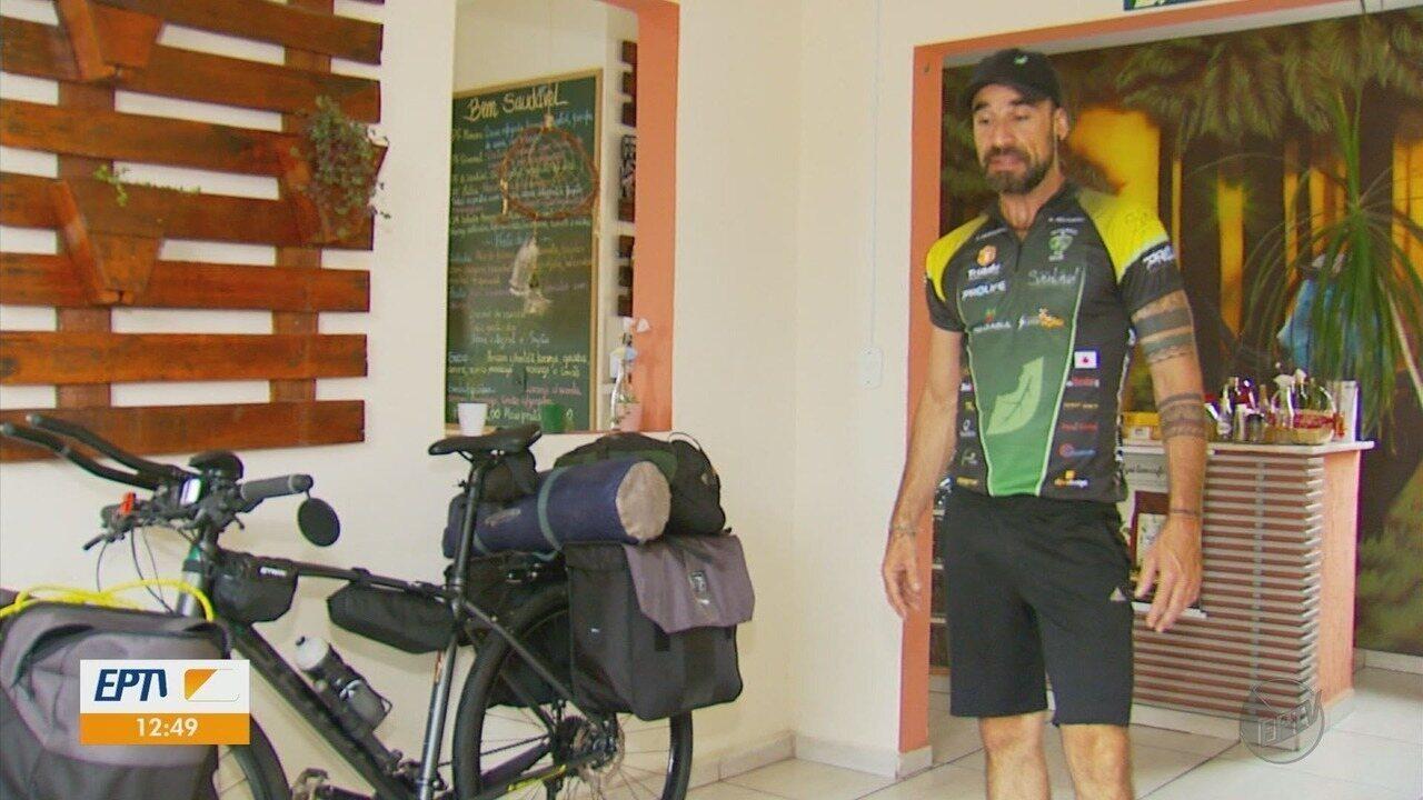 Empresário de Varginha se prepara para viajar de bicicleta por países da América do Sul