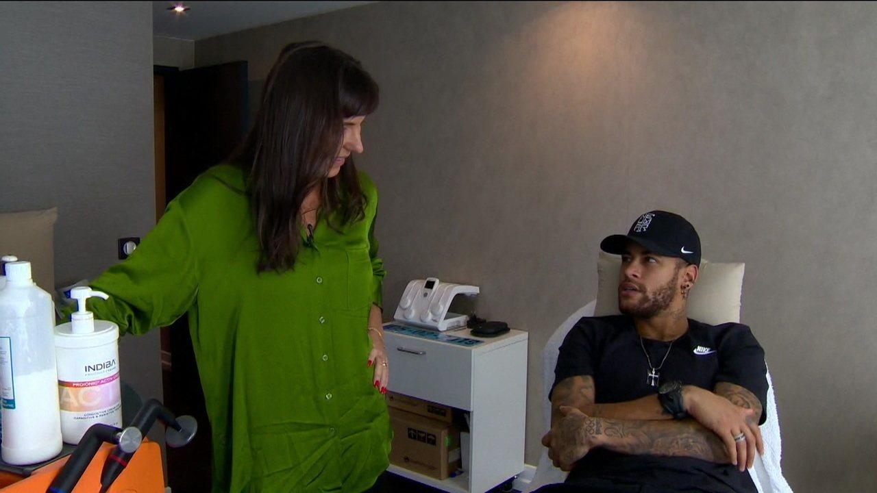 Glenda Kozlowski traz detalhes do papo com Neymar que vai ao ar na íntegra no Esporte Espetacular do dia 3 de março