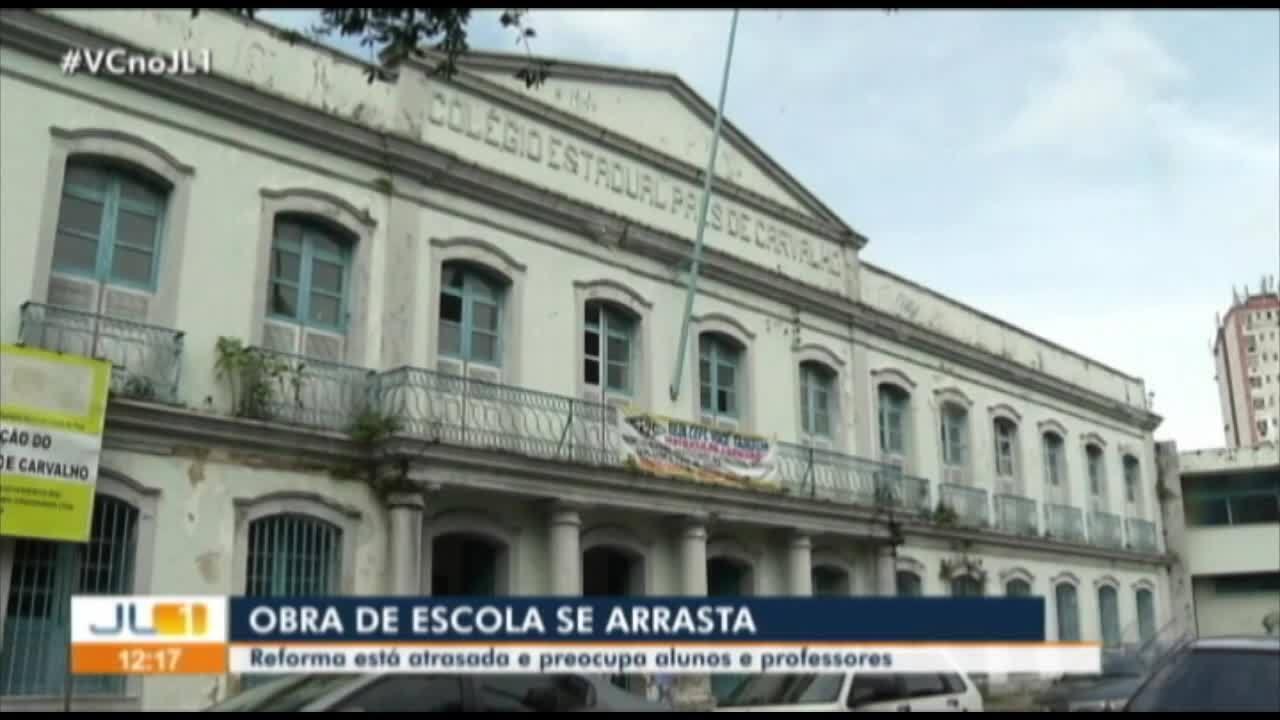 Atraso na reforma da Escola Paes de Carvalho preocupa comunidade escolar