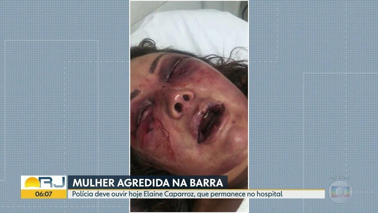 Polícia ouve mulher violentamente agredida nesta terça (21)