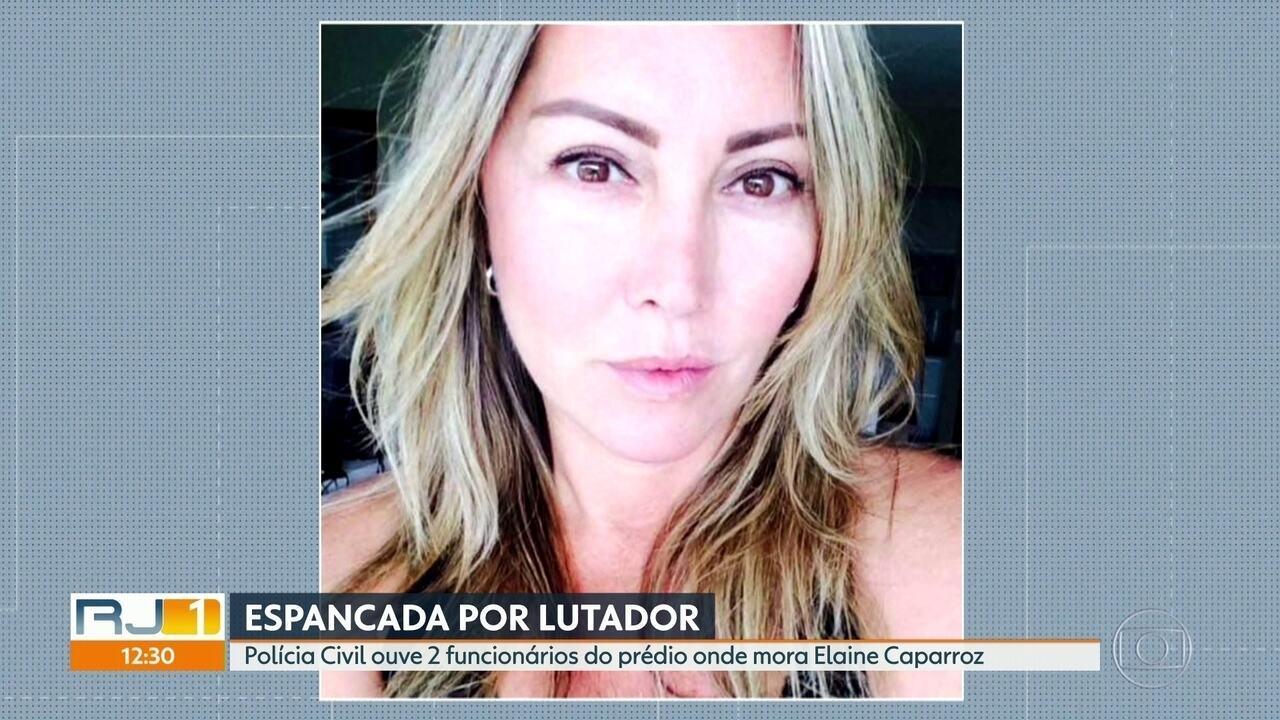 Polícia Civil ouve segurança do condomínio onde mora Elaine Caparroz