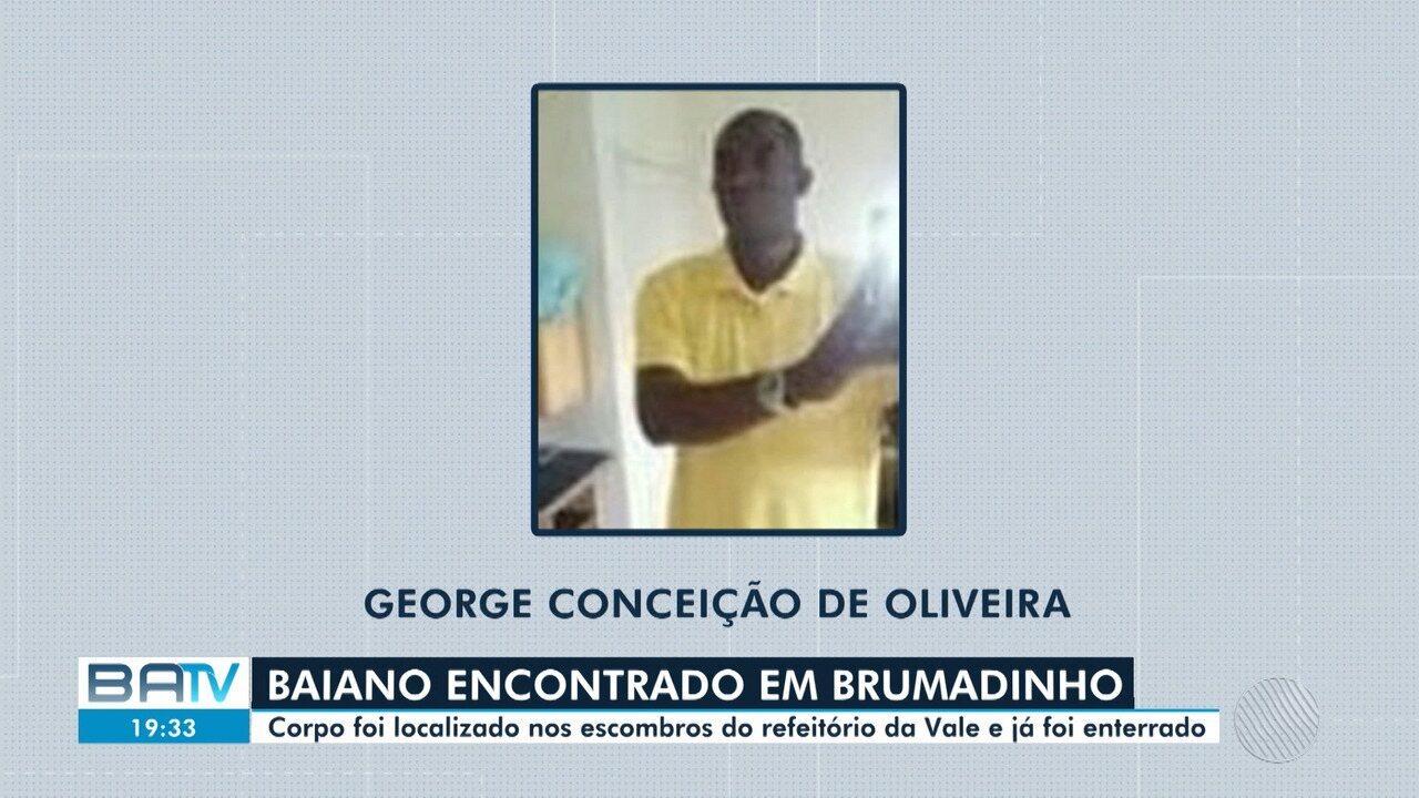 Corpo do baiano desaparecido na tragédia de Brumadinho é encontrado nos encombros