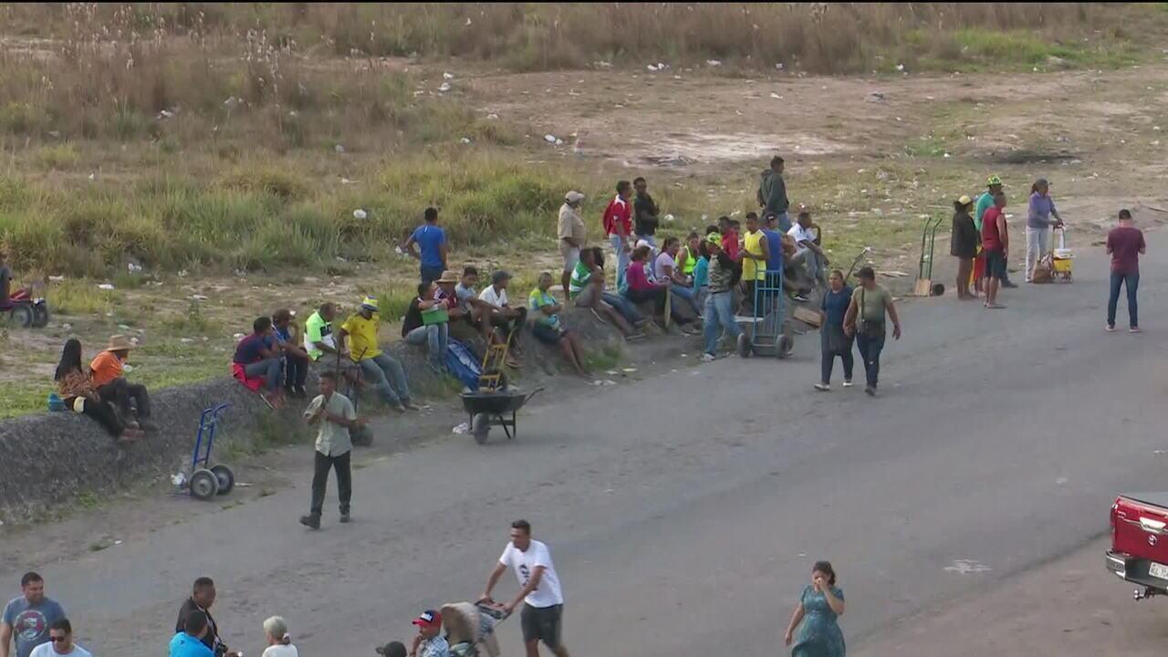 Venezuelanos chegam ao Brasil por rotas alternativas