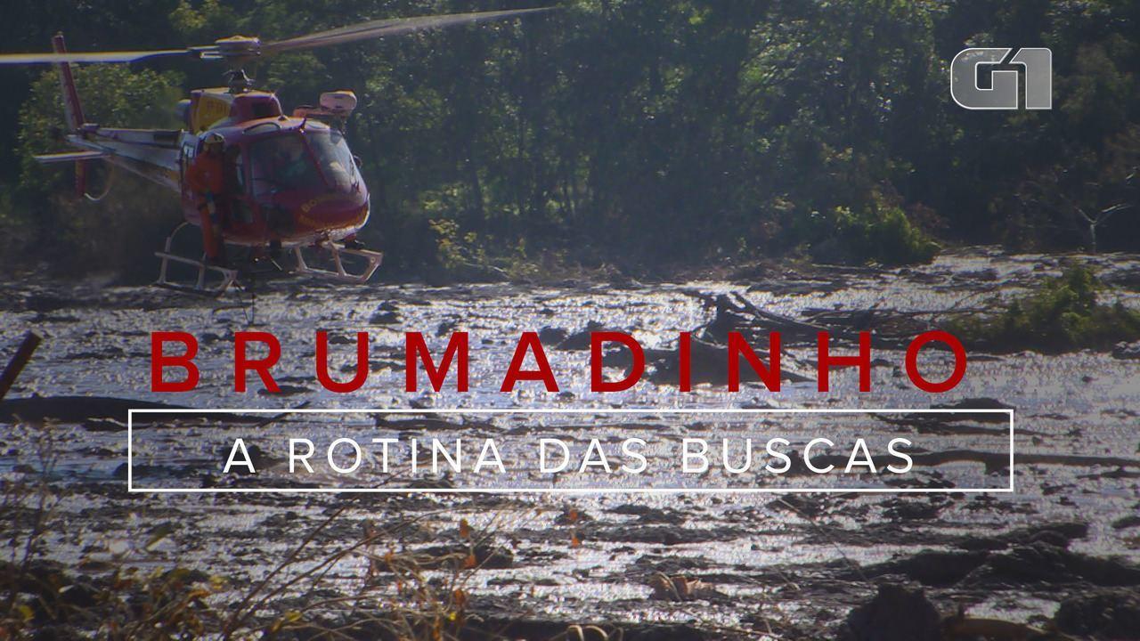 Veja como é a rotina de buscas dos bombeiros de MG em Brumadinho