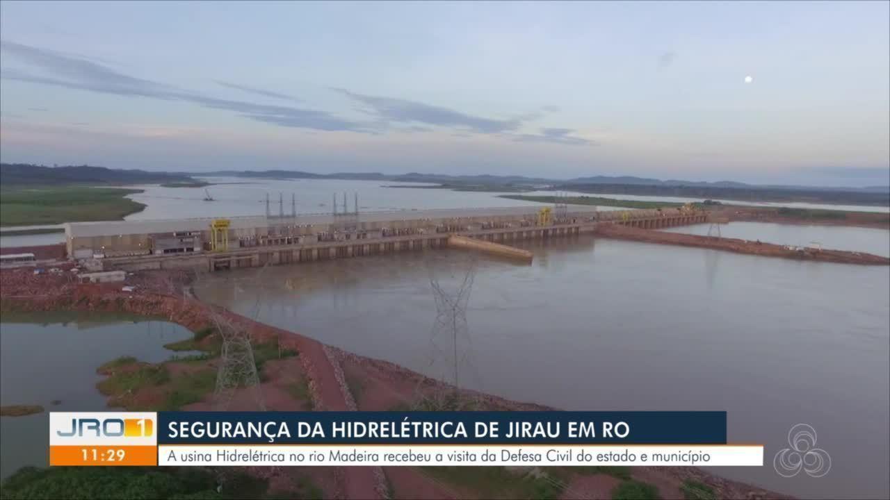 Defesa Civil estadual e municipal visitam Usina Hidrelétrica de Jirau