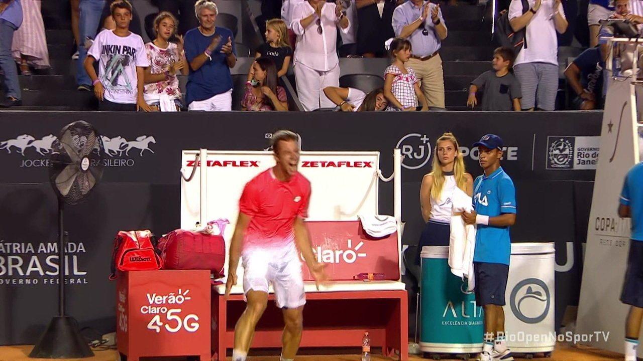 Pontos finais de Laslo Djere 2 x 0 Felix Auger-Alissime pela final do Rio Open 2019