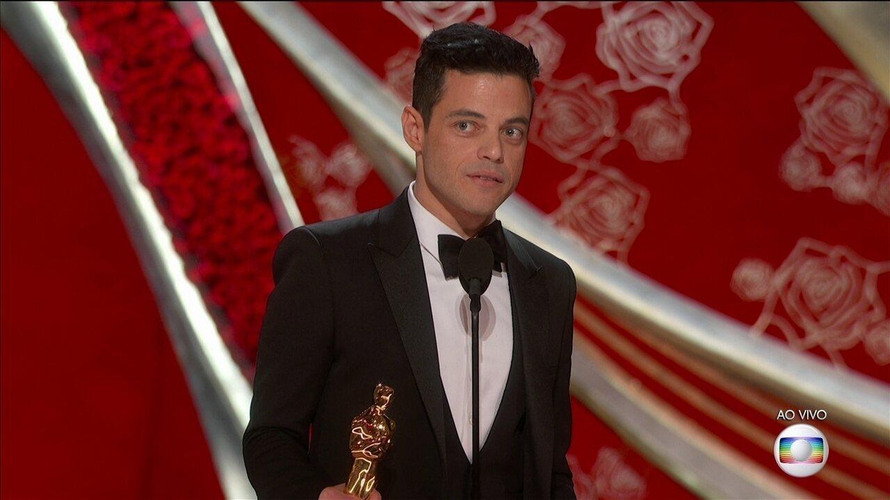 Rami Malek leva Oscar de Melhor Ator por