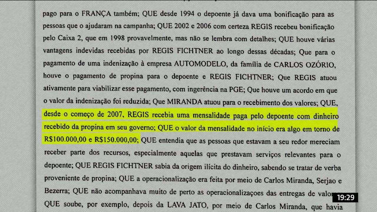 Cabral admite pela primeira vez que recebeu propina