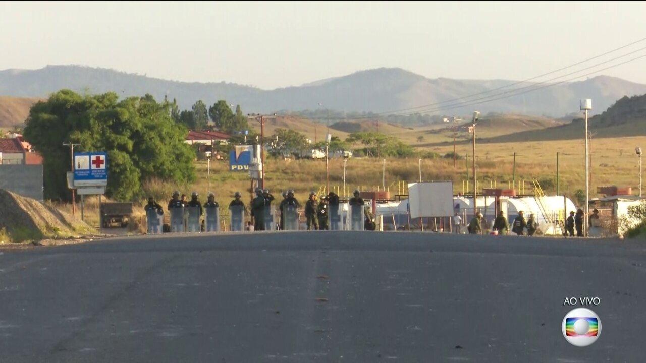 Fronteira do Brasil com a Venezuela está fechada pelo 5º dia seguido
