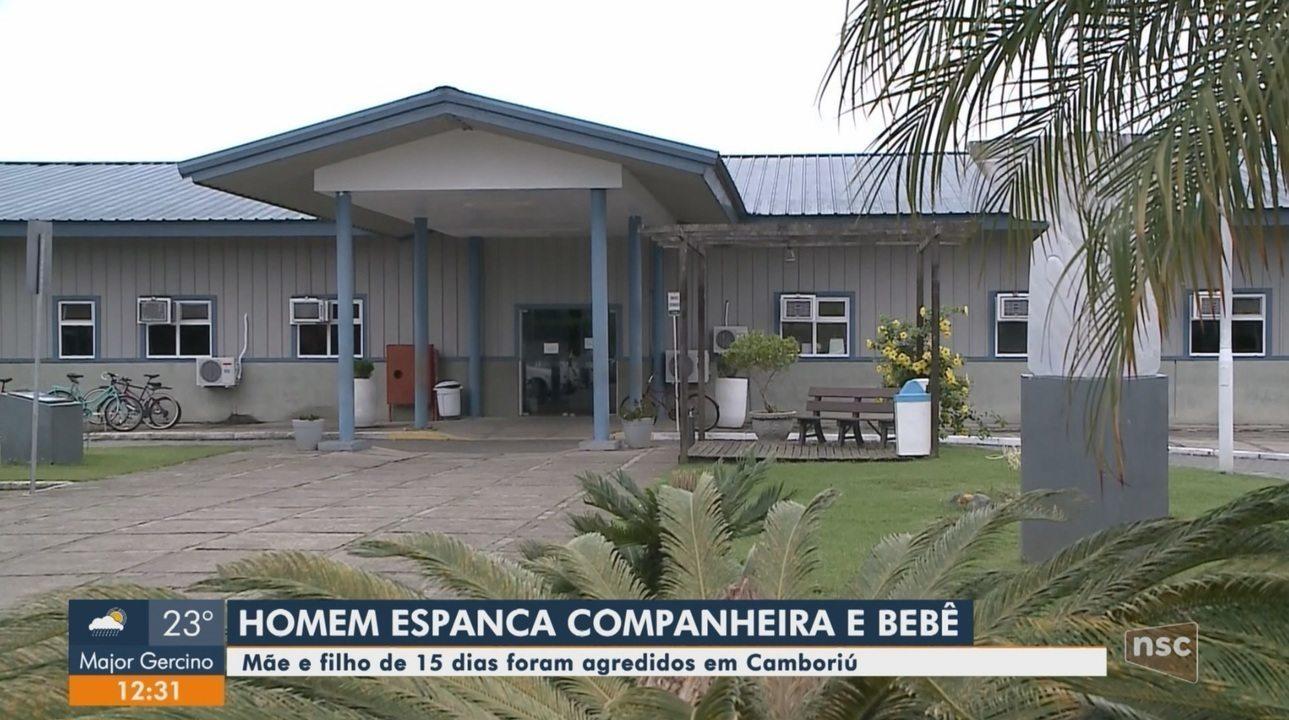 Homem espanca mulher e filho recém nascido em Camboriú