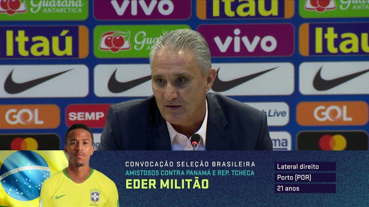 Tite fala sobre as características de Militão e Felipe Anderson