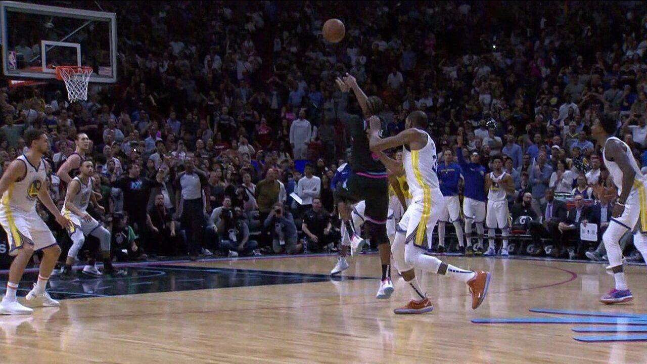 Dwyane Wade garante vitória do Heat sobre os Warriors com bola de três incrível no final