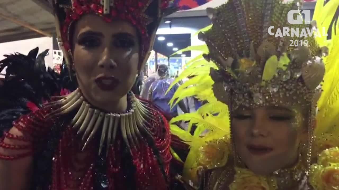 Muriel Quixaba fala após desfile da Colorado do Brás