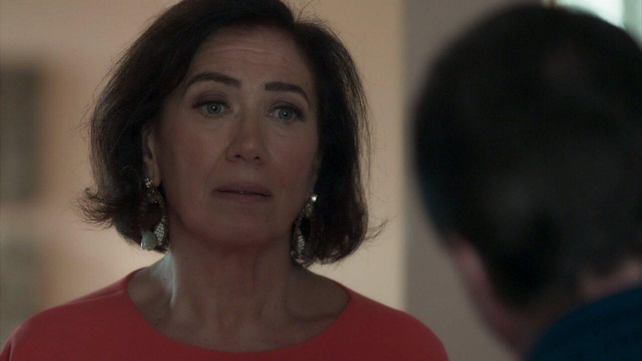 Olavo pressiona Valentina para descobrir o paradeiro de Laura