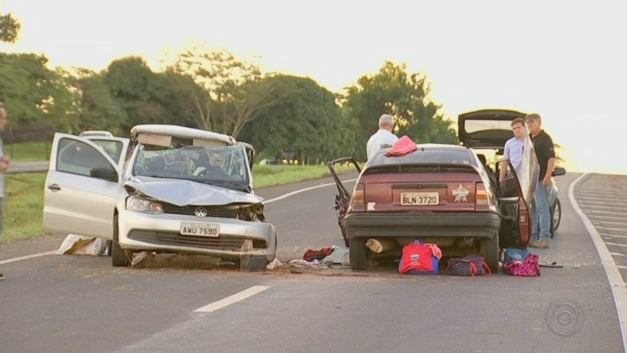 Acidente entre carros deixa uma morte e sete feridos em rodovia de Tanabi