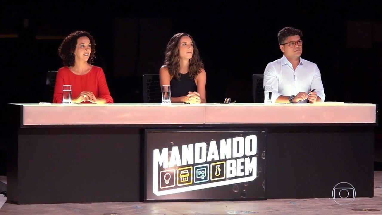 Daniela enfrente banca de investimentos no 'Mandando Bem'