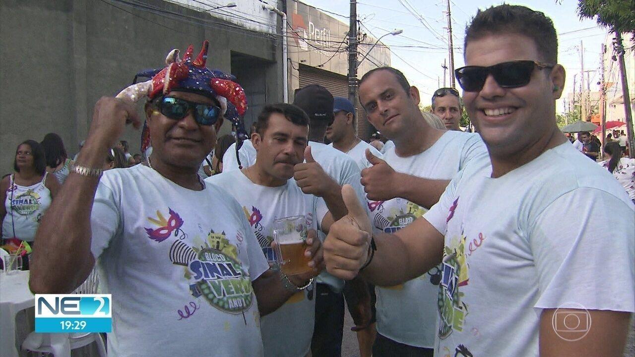 Bloco de carnaval reúne servidores da CTTU, no Centro do Recife