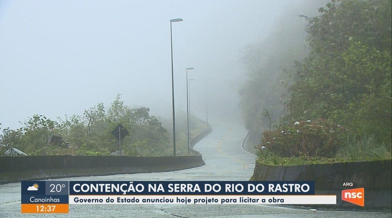 Governo de SC anuncia projeto para obras de contenção na Serra do Rio do Rastro