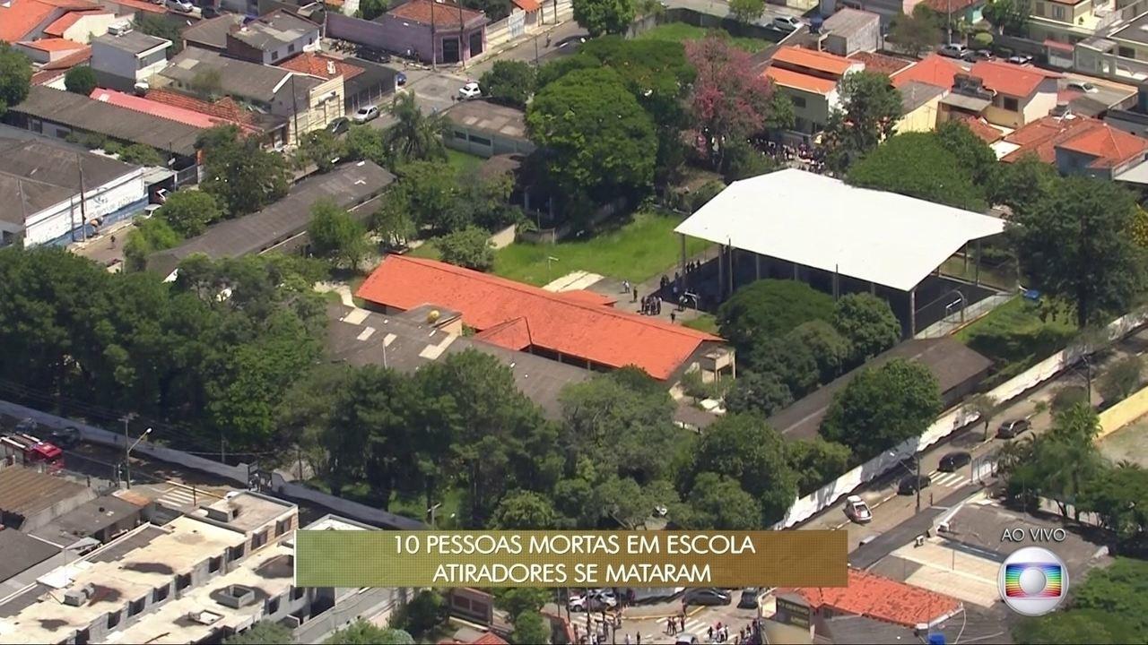 Dois jovens encapuzados entram em escola, matam oito pessoas e se matam em Suzano