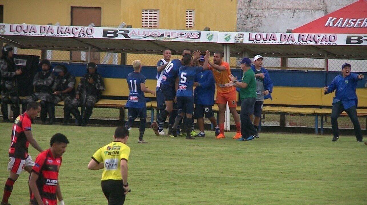 Os gols de Altos 4 x 2 Flamengo-PI pela quarta rodada do Campeonato Piauiense