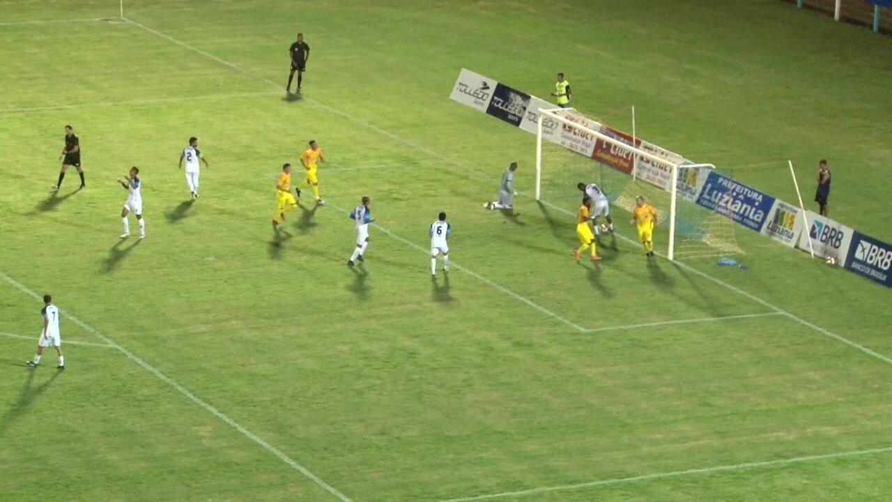 Brasiliense vence o Luziânia por 2 a 0 pelo Candangão