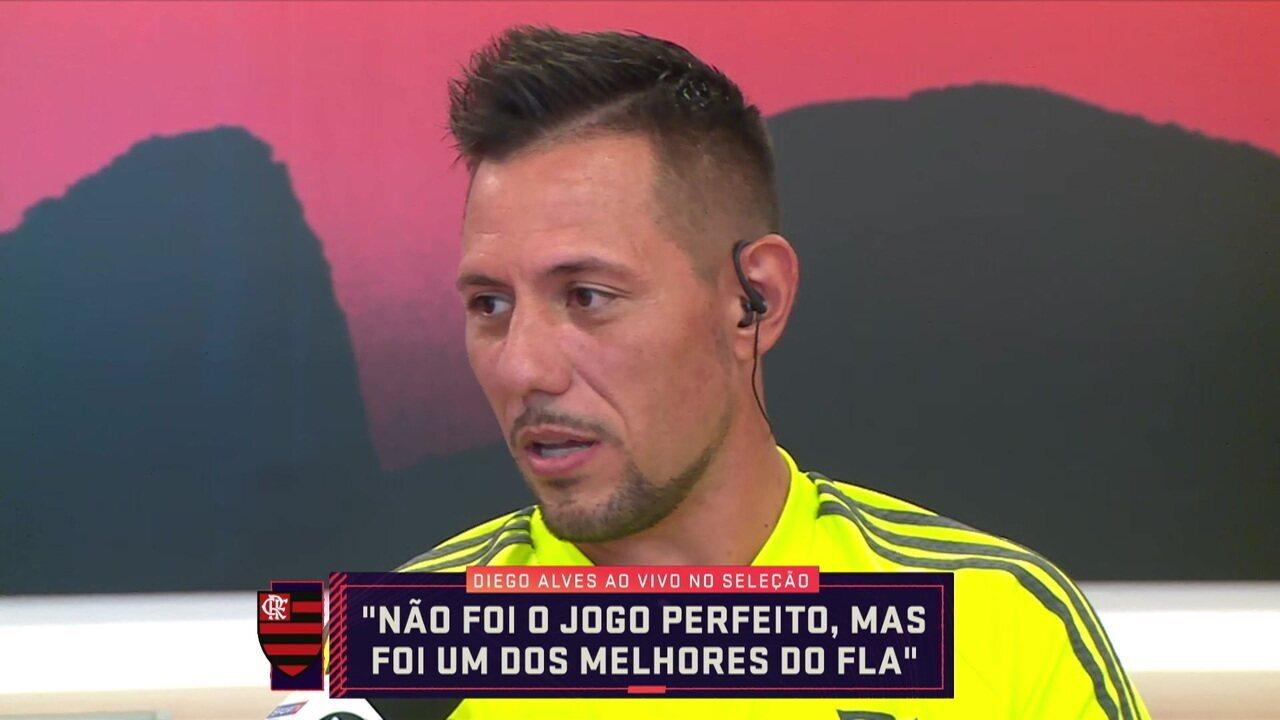 """Destaque do Flamengo na Libertadores, Diego Alves comenta momento atual: """"Sempre bom começar ganhando"""""""