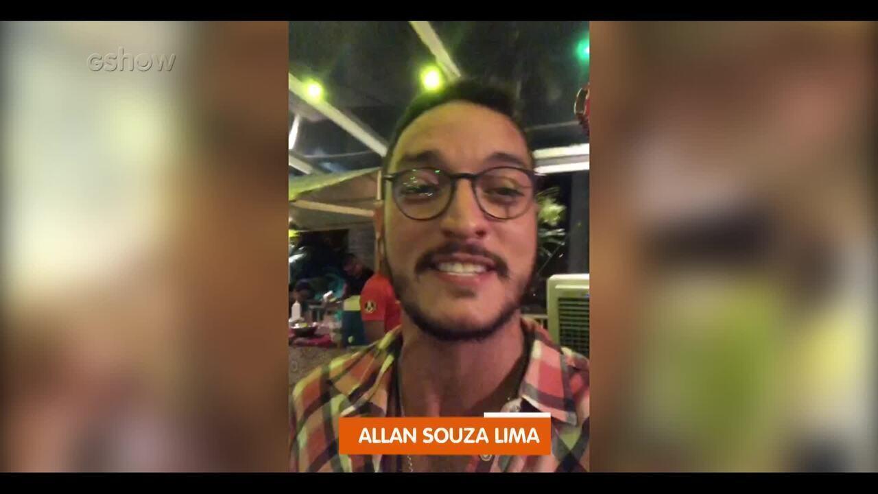 Allan Souza Lima experimentou culinária árabe na coletiva de 'Órfãos da Terra'