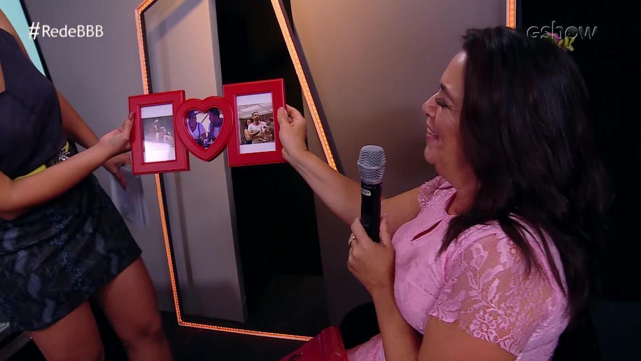 Gustavo dá presente para Tereza na Mesa-Redonda BBB