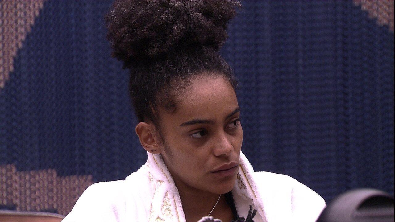 Danrley diz que precisa respirar e Gabriela opina: 'Elana também precisa'
