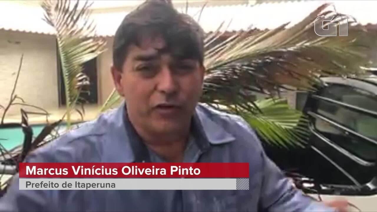 Prefeito de Itaperuna, RJ, fala sobre temporal que atinge a cidade nesta sexta-feira (15)