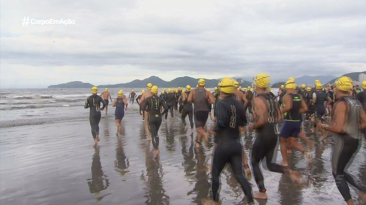 Triathlon Internacional de Santos agita a cidade
