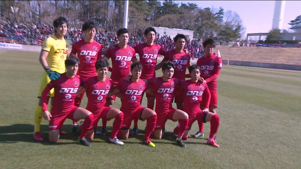 Cidade que passou por tragédias há oito anos no Japão conta com time de futebol que ajuda na reconstrução do local