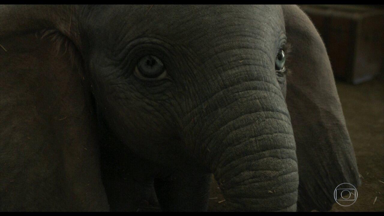 Dumbo volta aos cinemas pelas lentes de Tim Burton e elenco conversa com o Fantástico