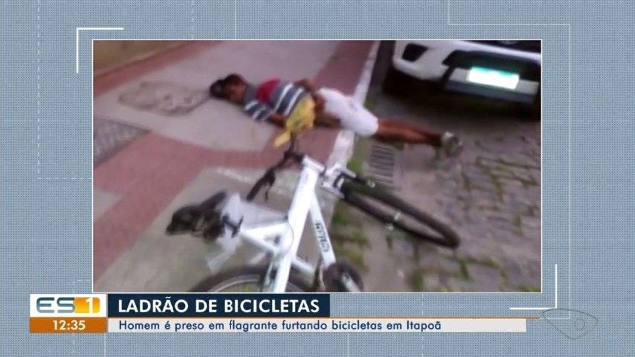 Homem é preso em flagrante furtando bicicletas em Itapoã, Vila Velha