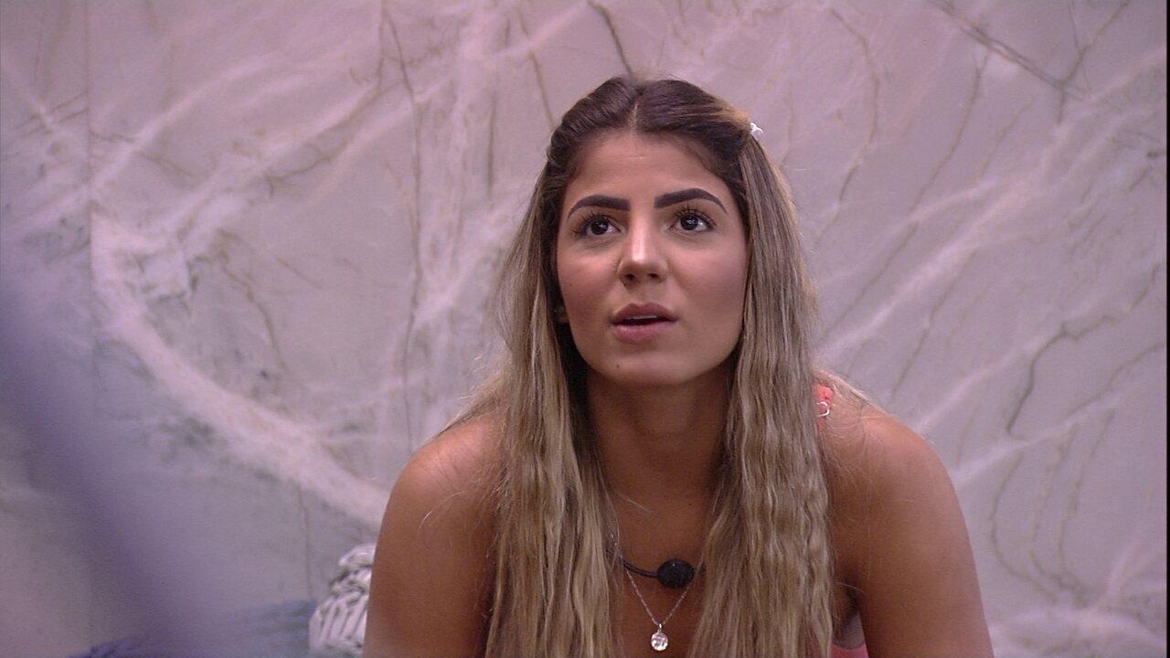Paula diz que está ansiosa com o Paredão: 'Normal'