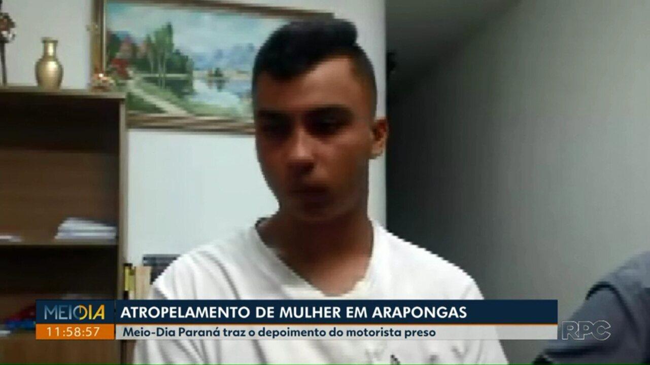 Meio Dia Paraná tem acesso a depoimento do motorista do atropelamento em Arapongas
