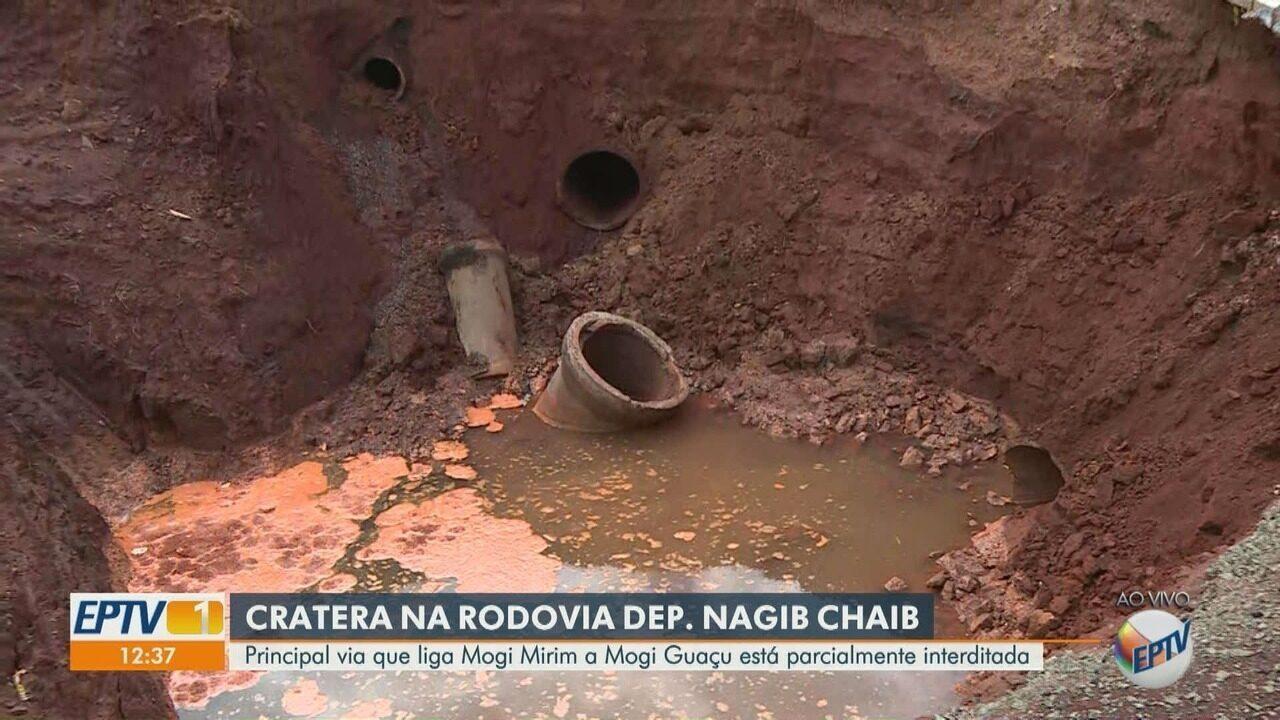 Principal Rodovia que liga Mogi Mirim a Mogi Guaçu está parcialmente interditada