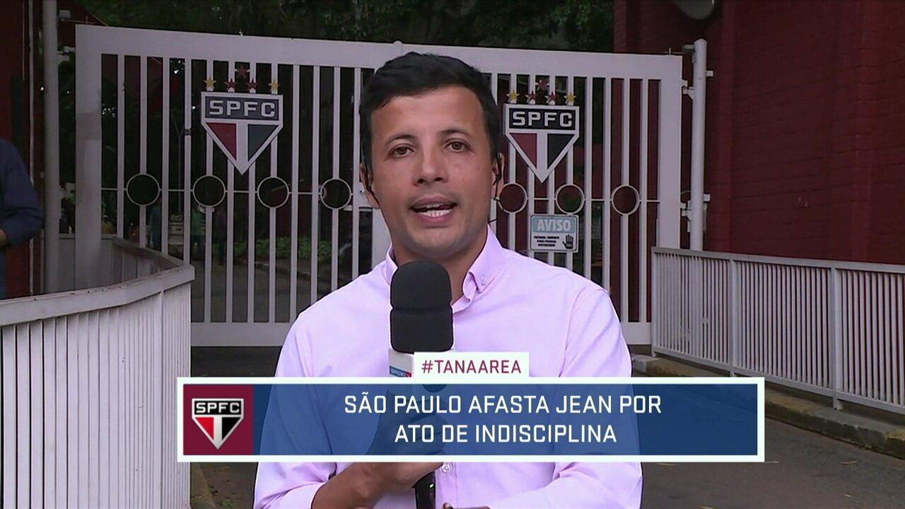 São Paulo afasta Jean por ato de indisciplina