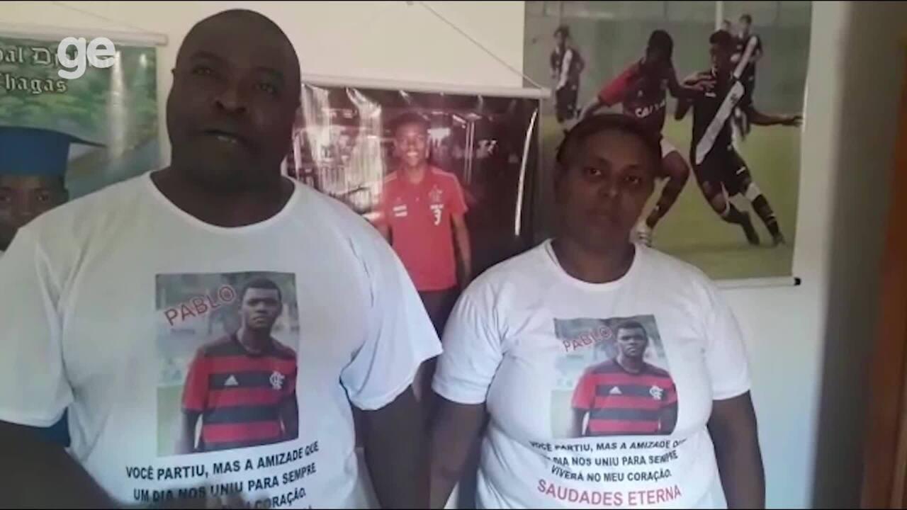 Familiares das vítimas do incêndio no Ninho do Urubu comentam situação perante o clube