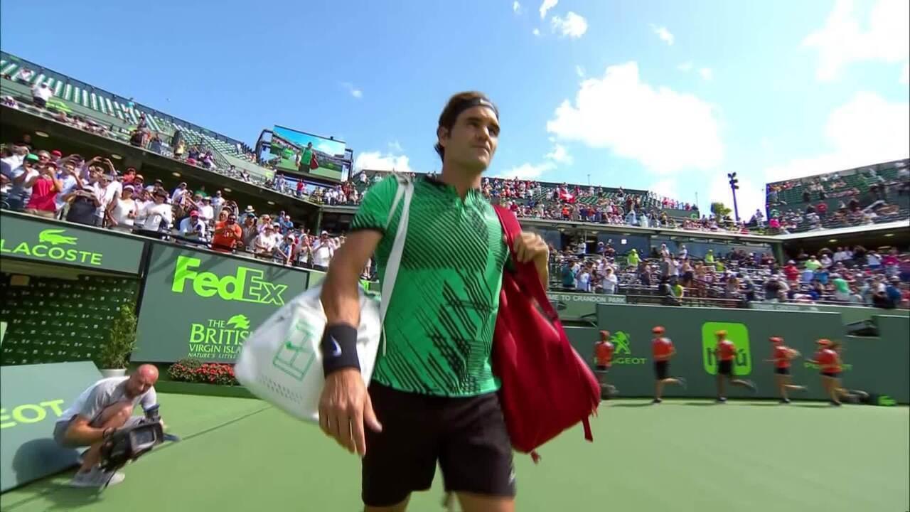 Apresentação de Roger Federer ao som de funk de paulista