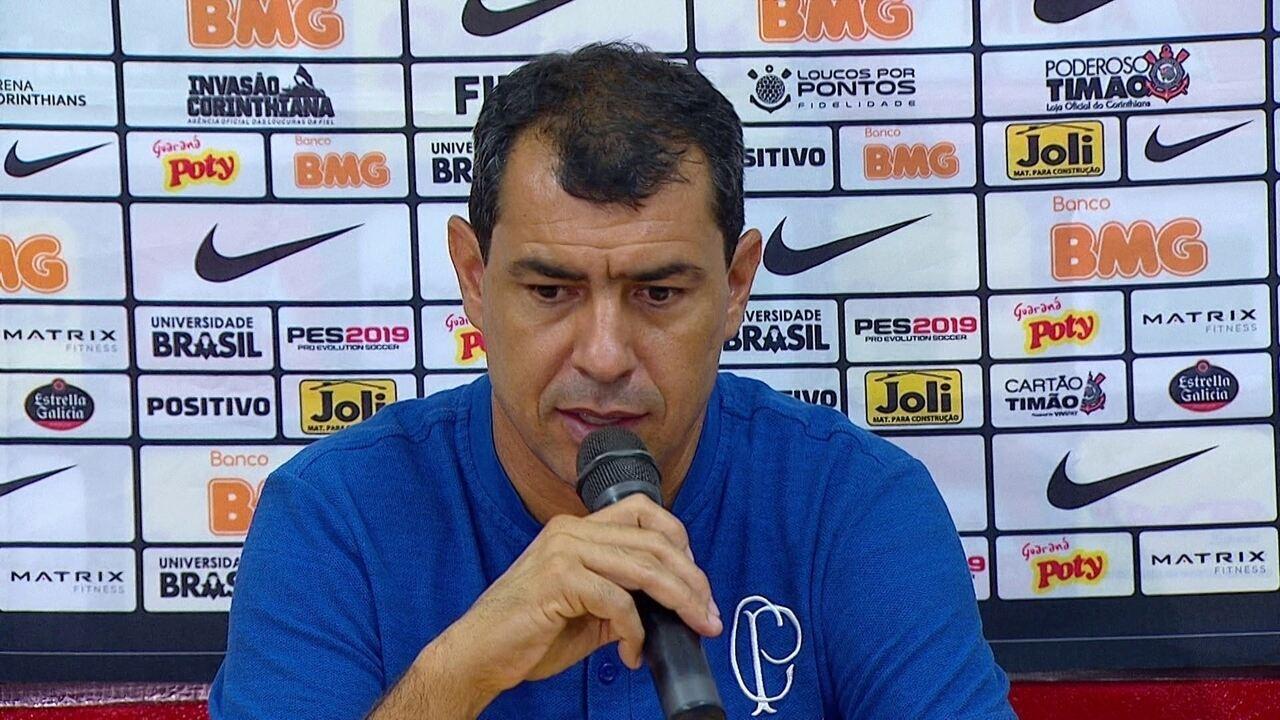 Veja a entrevista coletiva do Carille após a vitória do Corinthians sobre o Ituano
