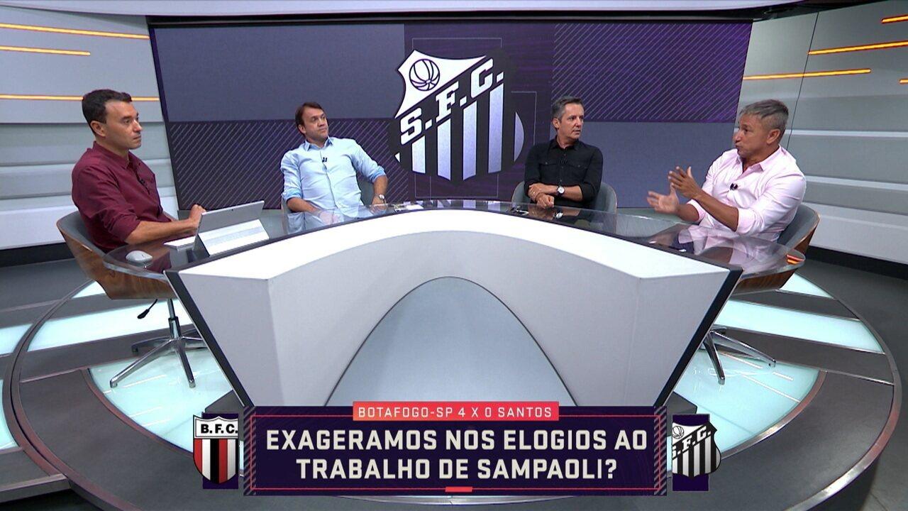 Comentaristas debatem sobre trabalho de Sampaoli no Santos e falam que eles exageraram nos elogios ao treinador